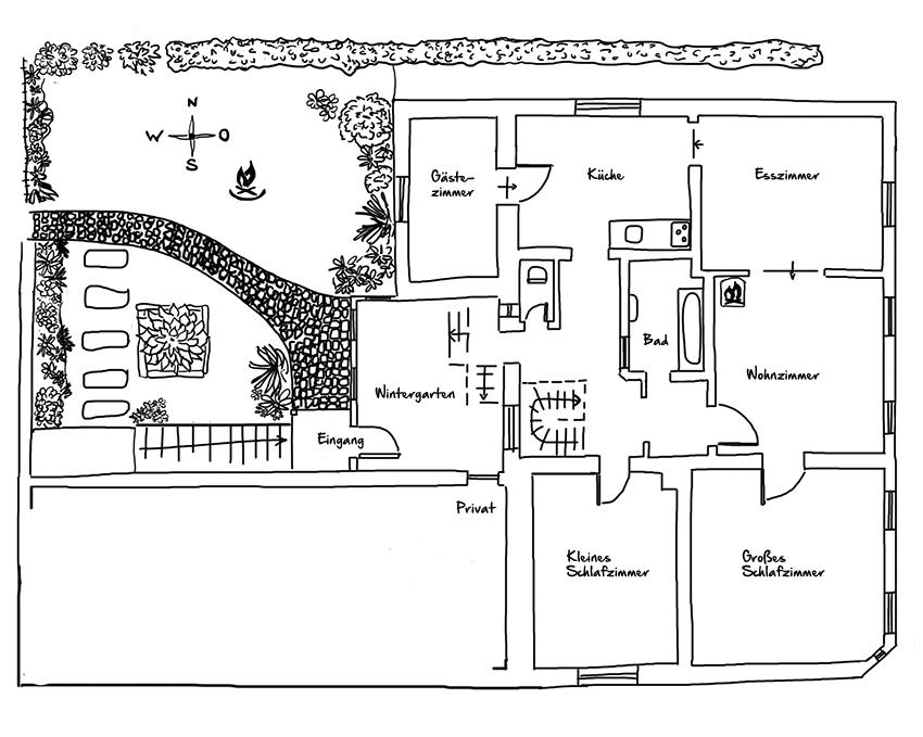 Grundriß Erster Stock Wohnung